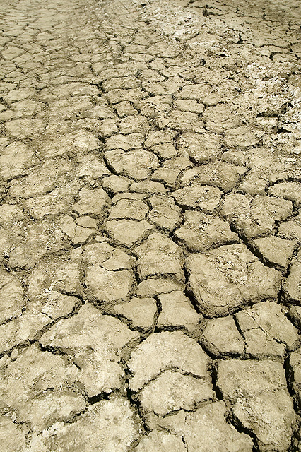 Dry soil in California. Photo by Peggy Greb, USDA.
