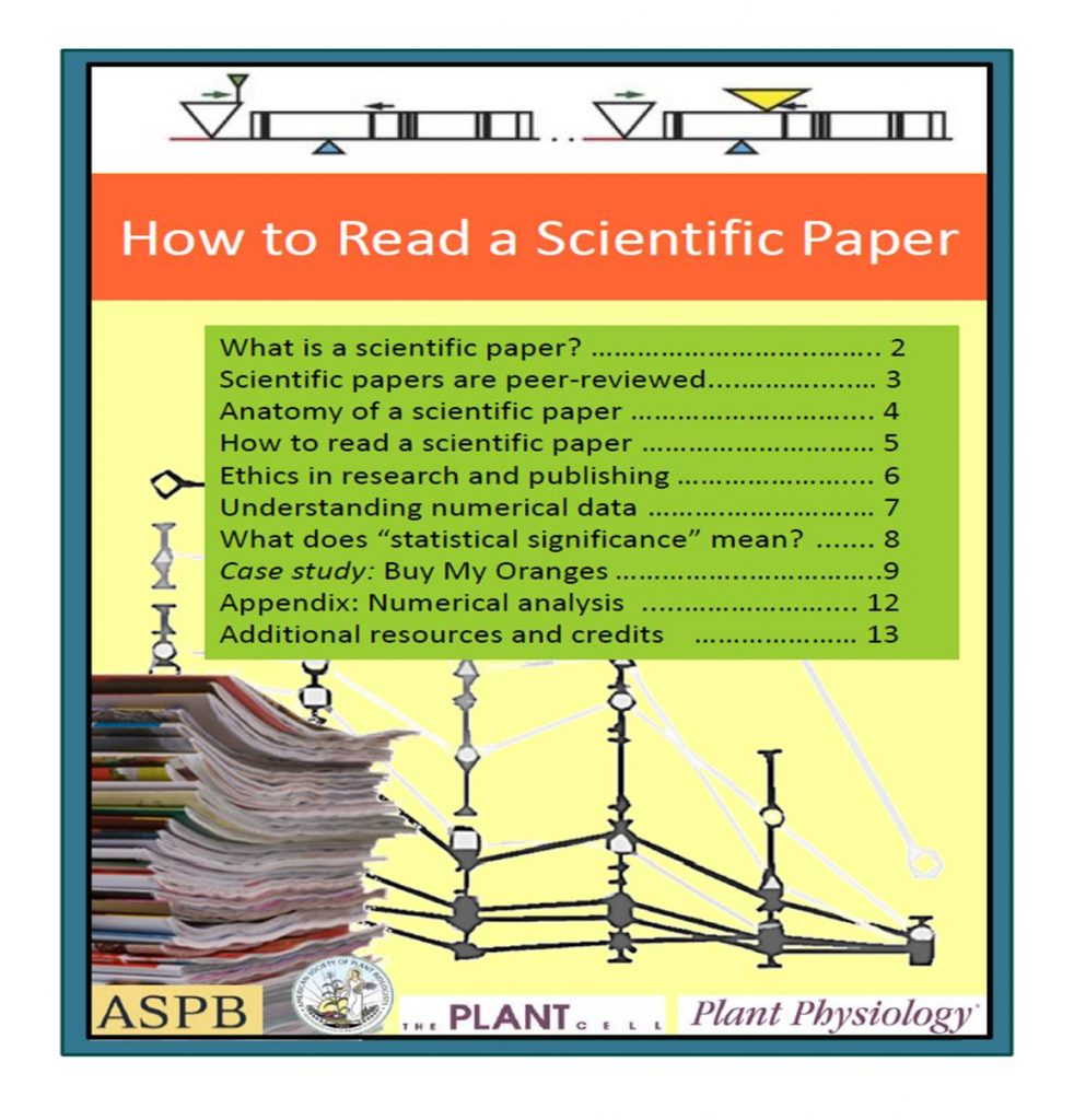 "How to Read a Scientific Paper"" and ""Case Study: Reading a Plant ..."