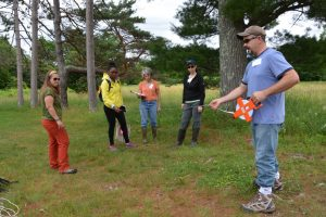 CARY - summer 2015 transect & measure tree trunks