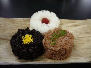Black, White, and Red Rice. Photo credit: Takeshi Ebitani/Takuya Yamaguchi.